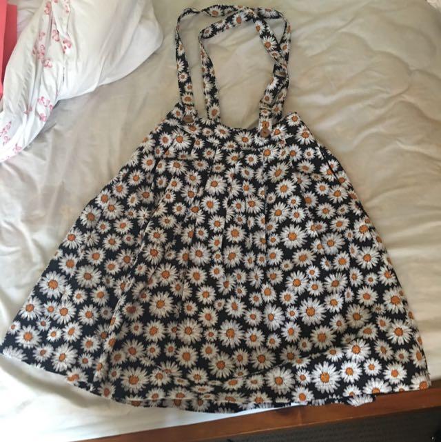 Grandma Funk Daisy Dungaree Skirt