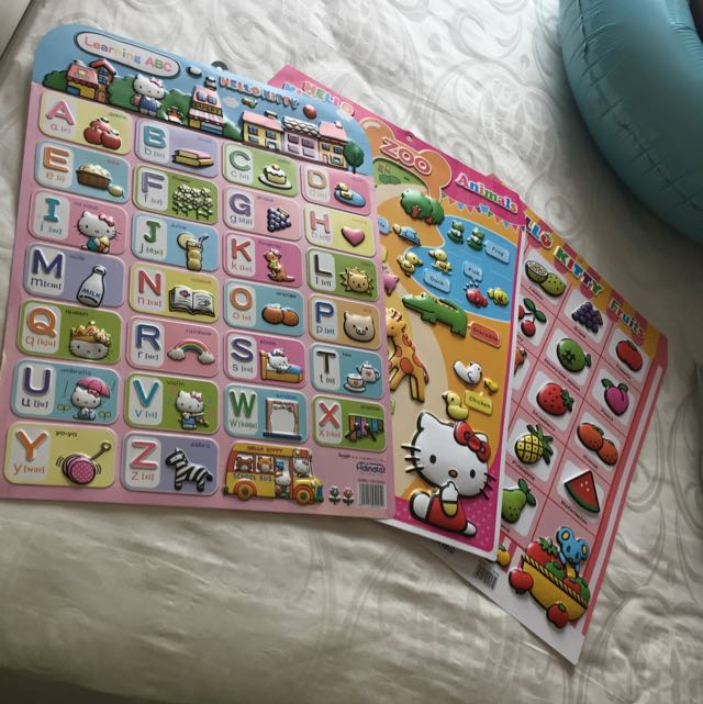 Hello kitty cards-Learning ABC, Fruits, Animals