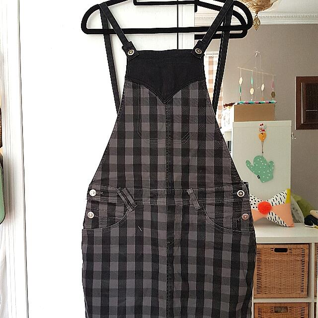 Industrie Check Denim Dungaree