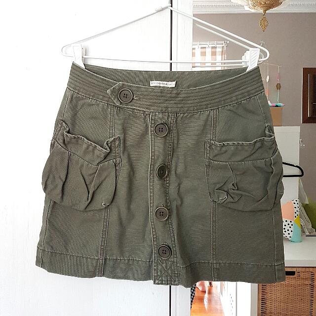 Izzue Khaki Mini Skirt