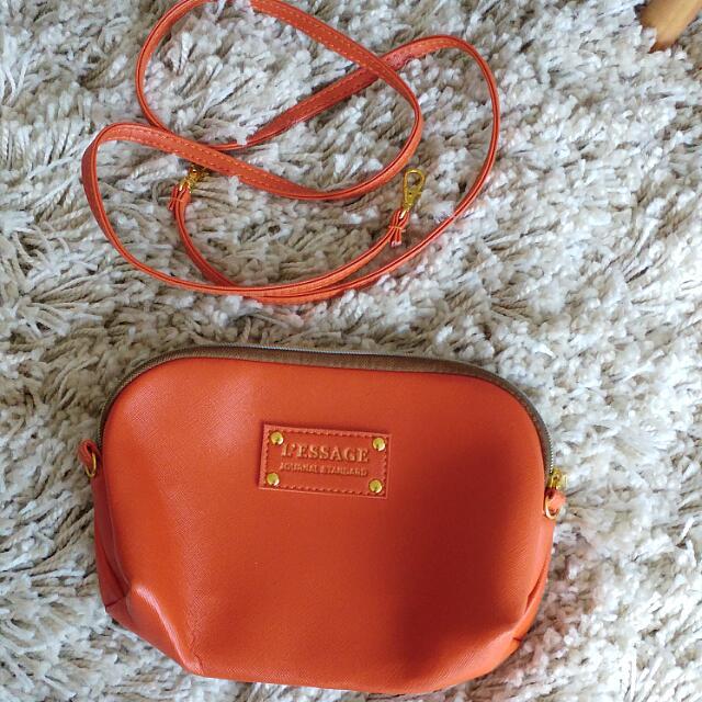 Japan Style Orange Crossbody Small Handbag