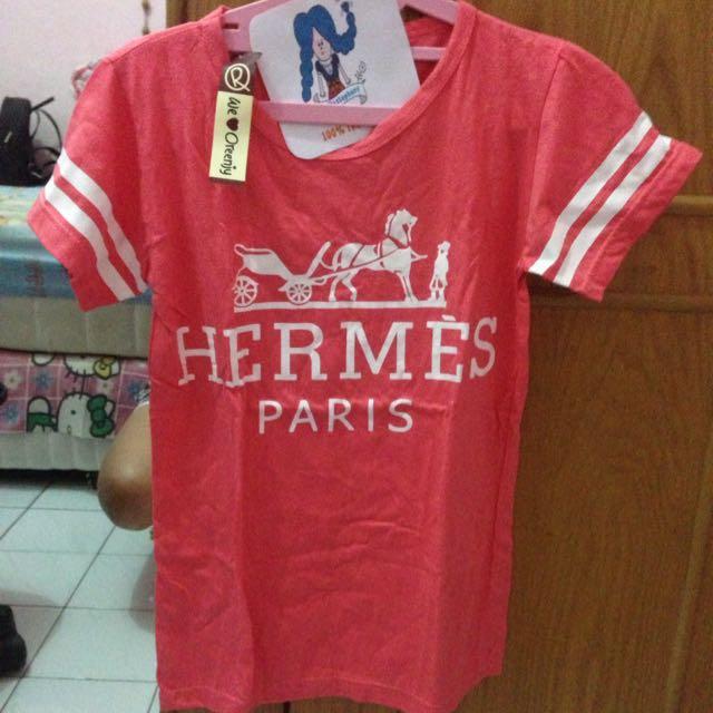 Kaos Hermes Pink Allsize