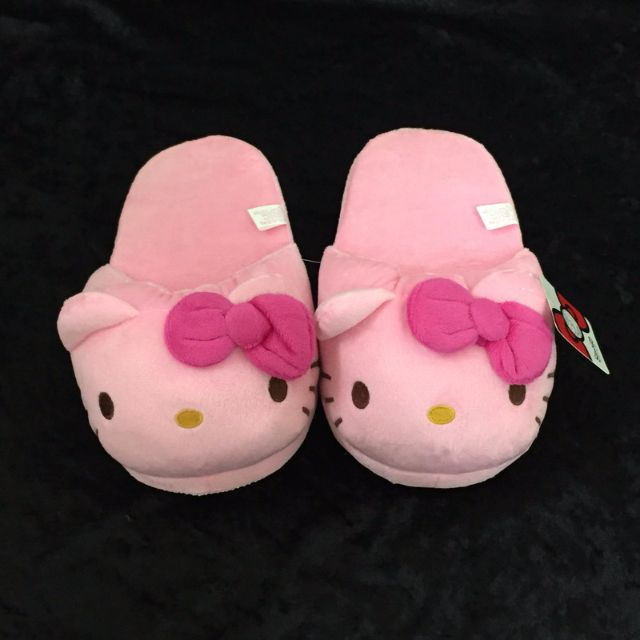 kitty頭型室內絨布拖鞋