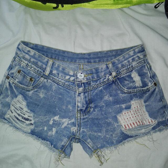 Korean sexy denim shorts