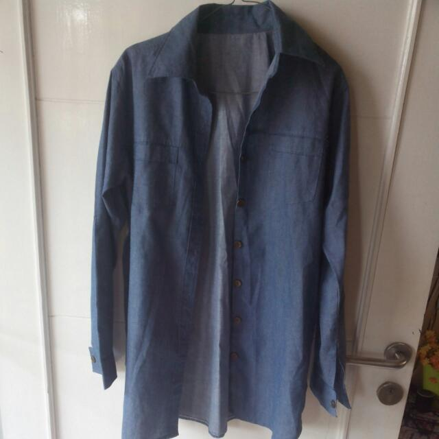 Medium Long Blue Shirt