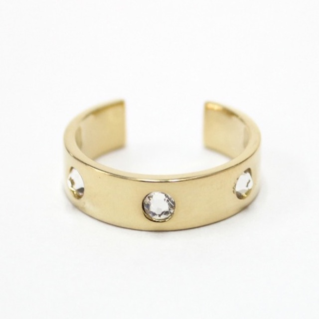 me.n.u 14k Gold plated ring with Swarovski crystals