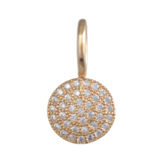 me.n.u Crystal Gold Charm - Disc