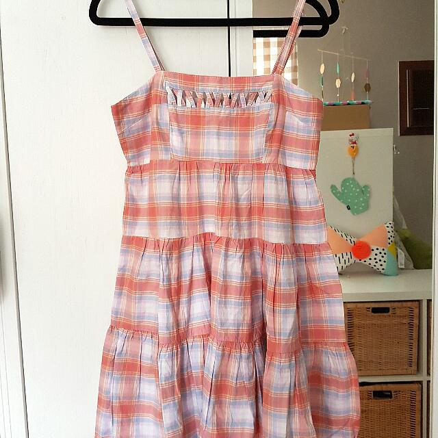 Miss Shop Tartan Summer Dress