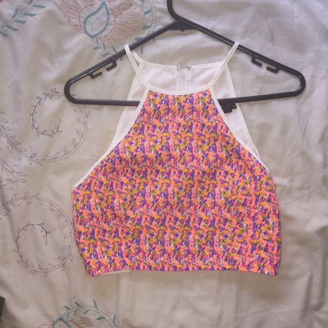 Naughts And Crosses Crop Top