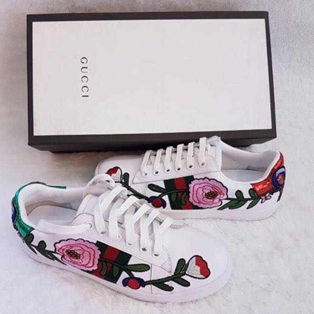 New Gucci Flower Sneaker