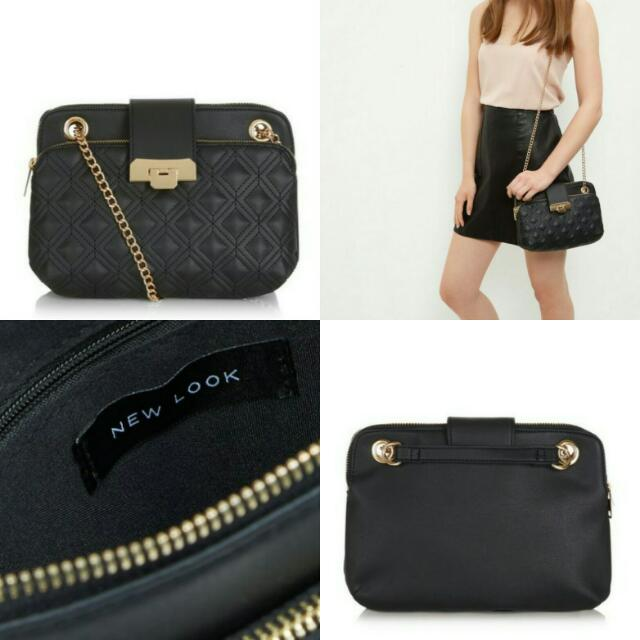 New Look Black Quilted Shoulder Bag ORI!