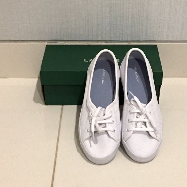 Original Lacoste White Leather Ziane Chunky Sneakers
