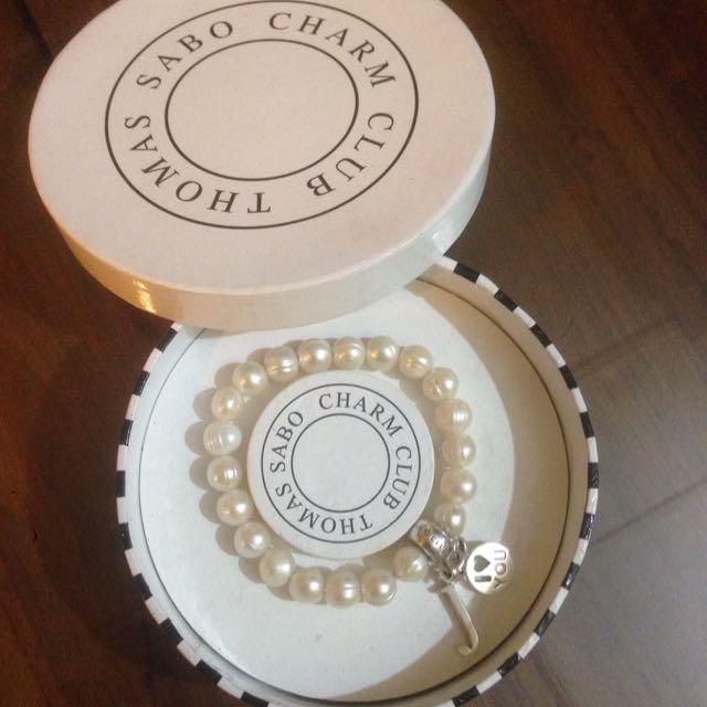 original thomas sabo pearl bracelet with 2 charm