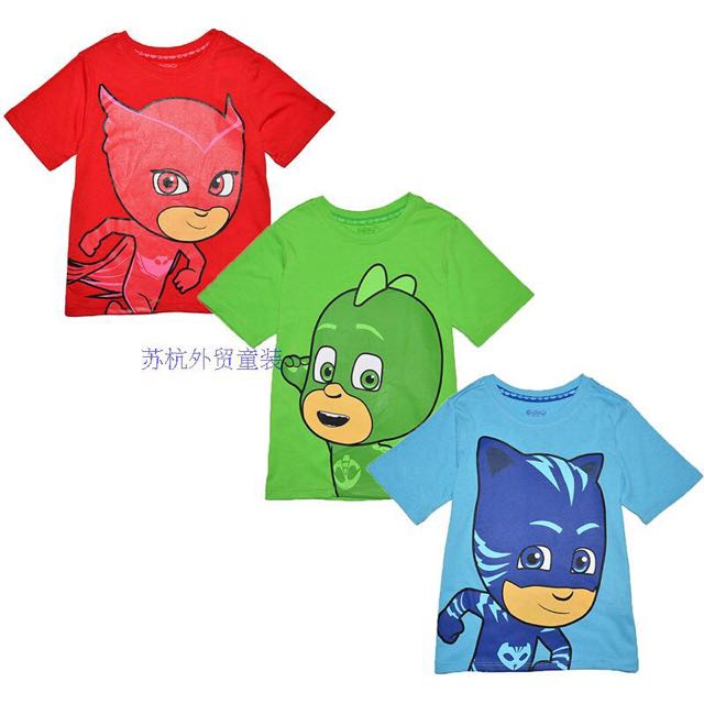 bcd19d27 PJ Masks T-Shirts Owlette, Gekko & Catboy, Babies & Kids, Boys' Apparel on  Carousell
