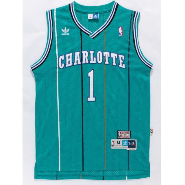 PO  NBA Charlotte Hornets Muggsy Bogues Swingman Jersey d8bd7fa83