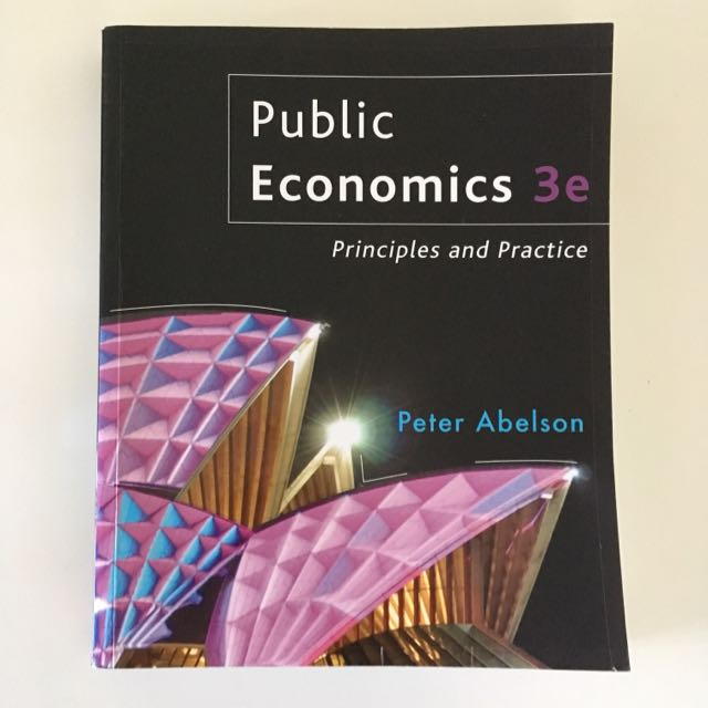 Public Economics 3rd Edition by Peter Abelson