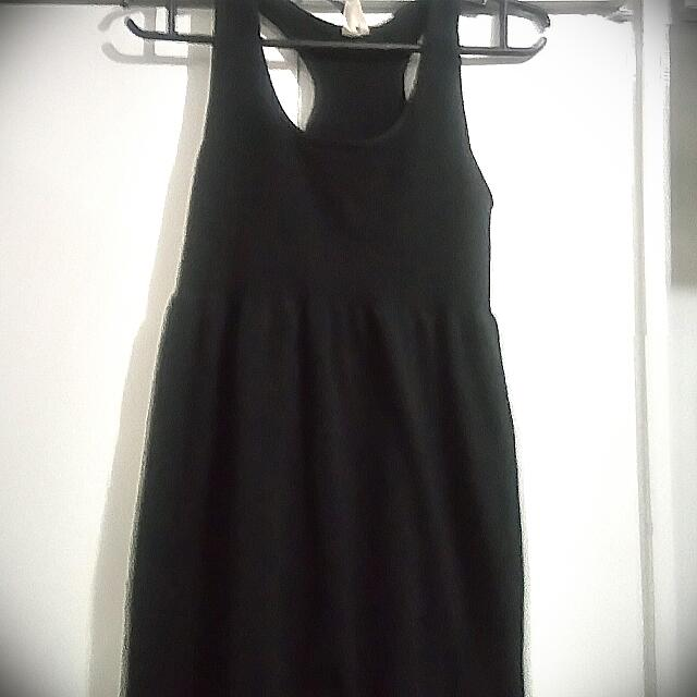 Racerback Empire Cut Black Dress