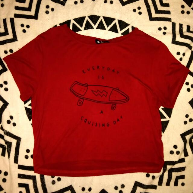 Red Chicabooti Croptop