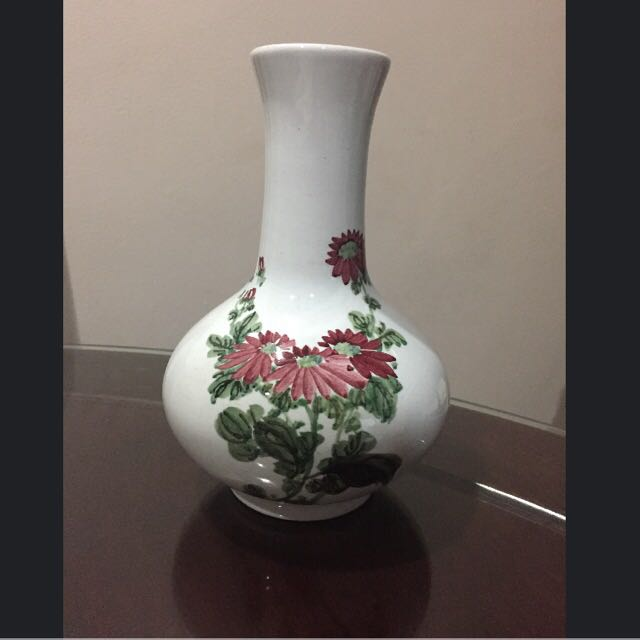 Retro Hand Painted Flower Vase