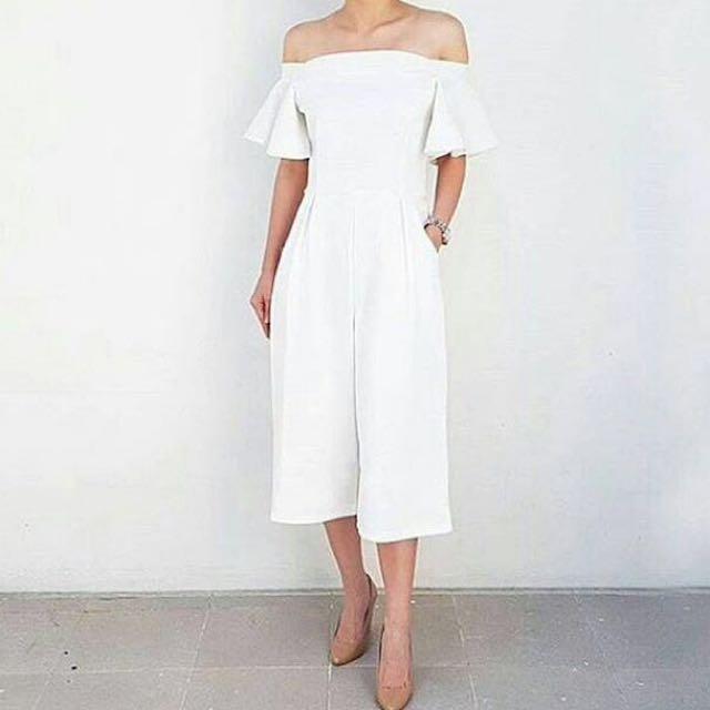 Sabrina Jumpsuit In White