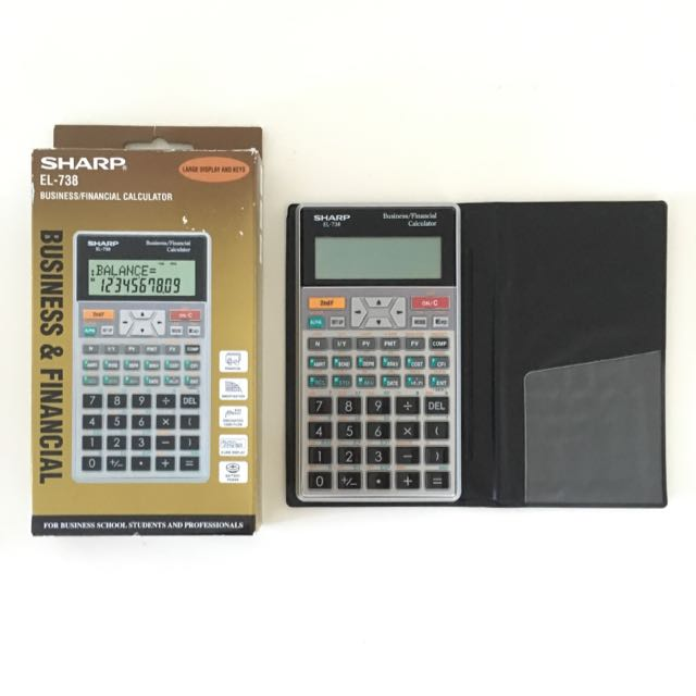 sharp el 738 business financial calculator electronics others on rh au carousell com Sharp EL 1197Piii Calculator Ribbon Scientific Calculator Sharp EL 531