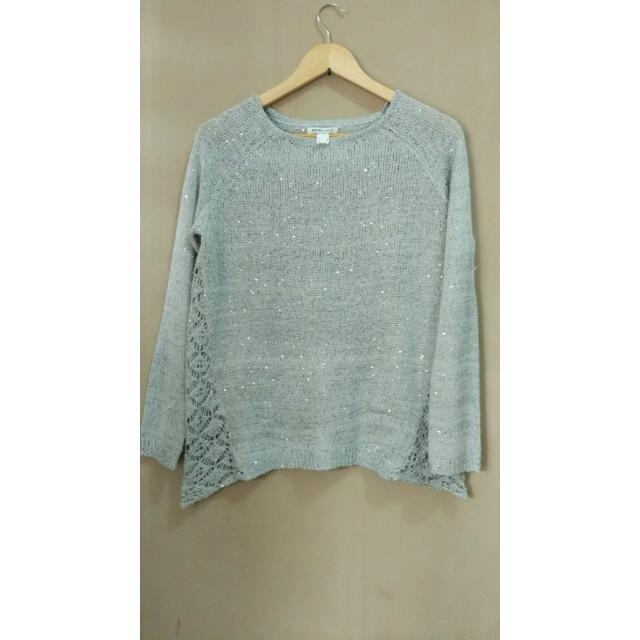 Shimmering Silver Sweater