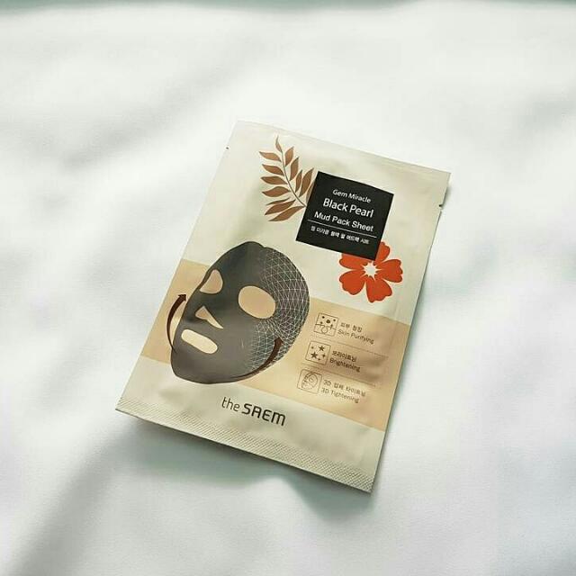 The SAEM Gem Miracle Black Pearl Mud Pack Sheet