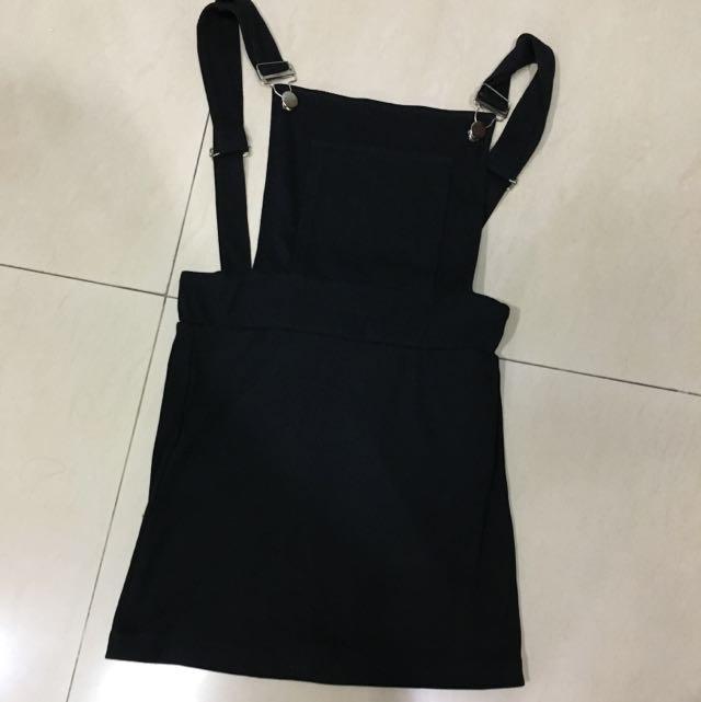 Tight Black Overall Dress
