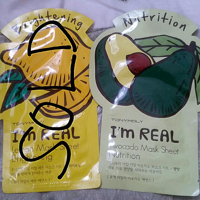Tony Moly Mask Sheet Avocado (Masker Wajah)