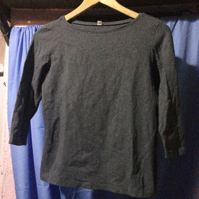 UNI QLO Dark Grey 3/4 sweater
