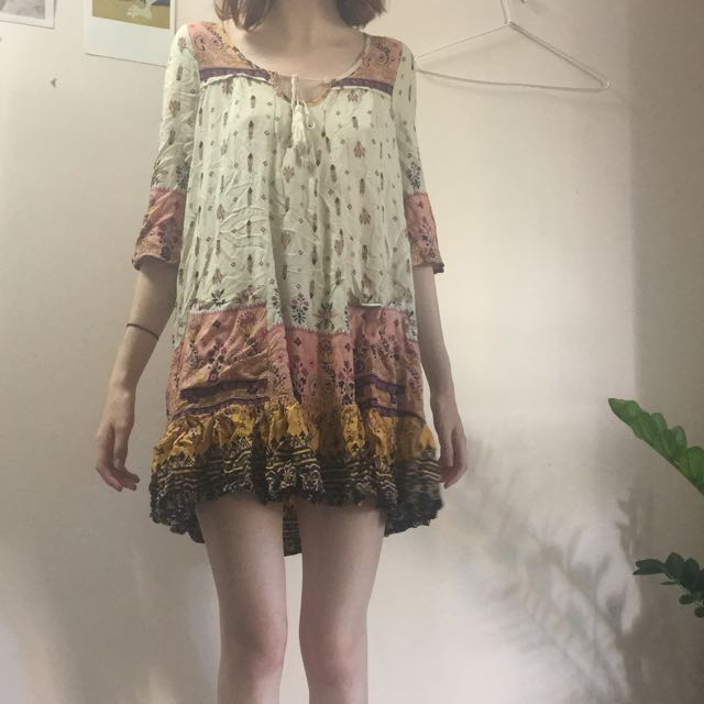 Verge Girl Boho/70s Patterned Festival Dress