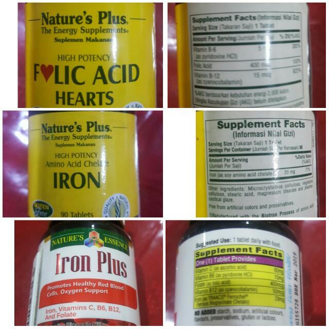 Vitamin Iron beli di S'pore