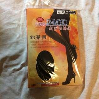 台灣製 超彈性黑色褲襪