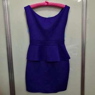 New Twenty3 Peplum Blue Dress Size L
