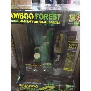 Exo Terra Terrarium - Crested Gecko Habitat Kit - Leopard Gecko Kit -  Bamboo Forest Habitat small