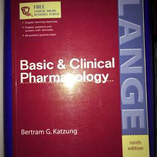 Basic Clinical And Pharmacology Pharmacy Textbook