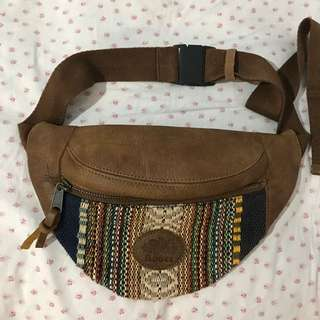 Roots Leather Fanny Pack