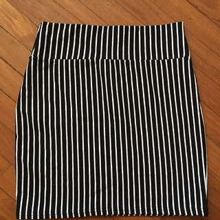Cotton on Bandage Pin Stripe Skirt