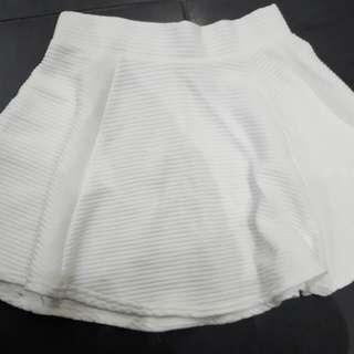 White Short Skirt Size Small