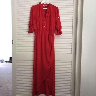 Saboskirt Red Maxi Dress