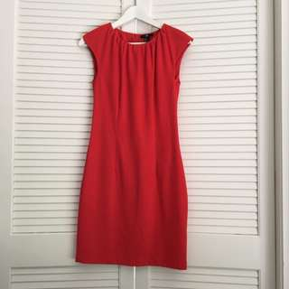 H&M Red Tailored Dress