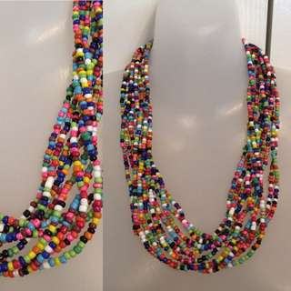 BRIGHT BEADED CHUNKY STATEMENT NECKLACE