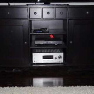"""Solid Dark Wood TV Unit for up to 70"""" TV"""