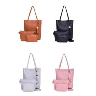 [PO] Casual Tassel Composition Shoulder Bag / 3pcs per Set