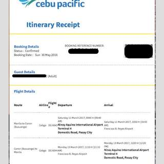 Coron Palawan Roundtrip Ticket🚫RESERVED🚫