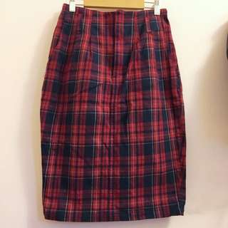 日牌Heather 格紋窄裙