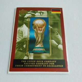 Upper Deck 1994 FIFA World Cup Soccer Germany National Team Trading Cards Soccer
