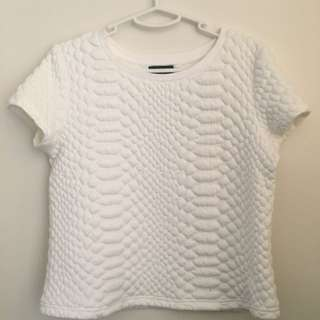 Textured White Tshirt