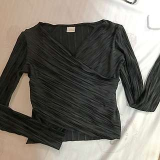 Zara black longsleeves top