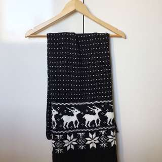 Reindeer Winter Scarf